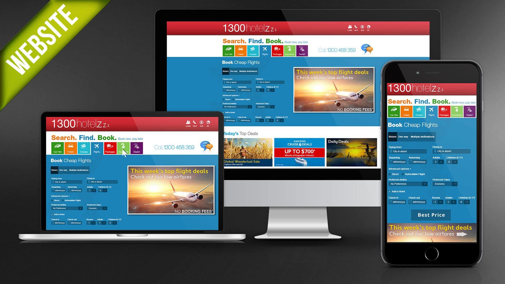 1300-Hotelz website