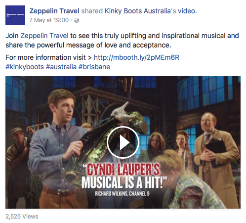Zeppelin Travel Social Media Management