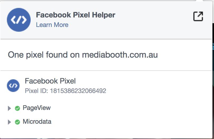 Facebook Pixel Helper Chrome Addon