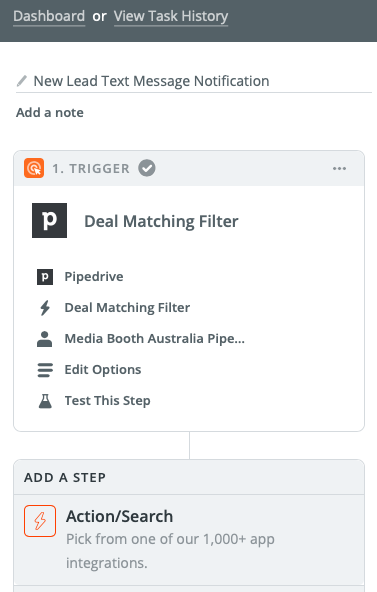 Add Action Zapier