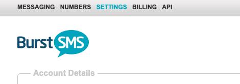 Burst SMS Settings