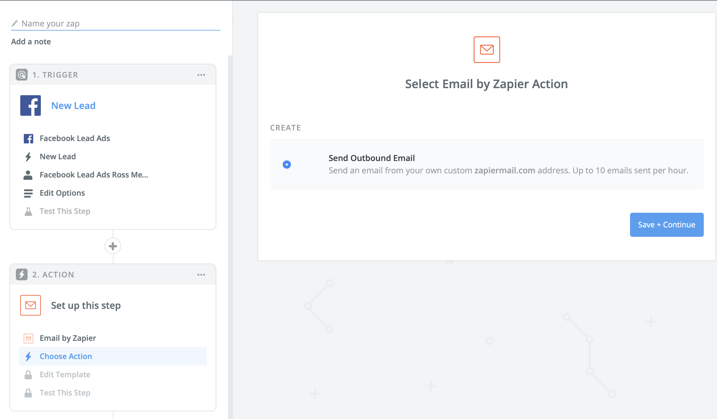 Email by Zapier for sending outbound email