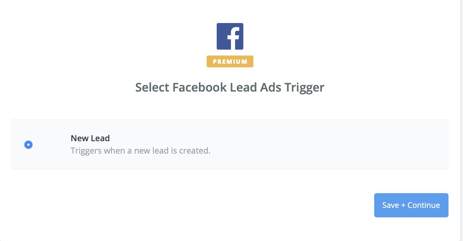 Zapier Trigger New Lead Ad