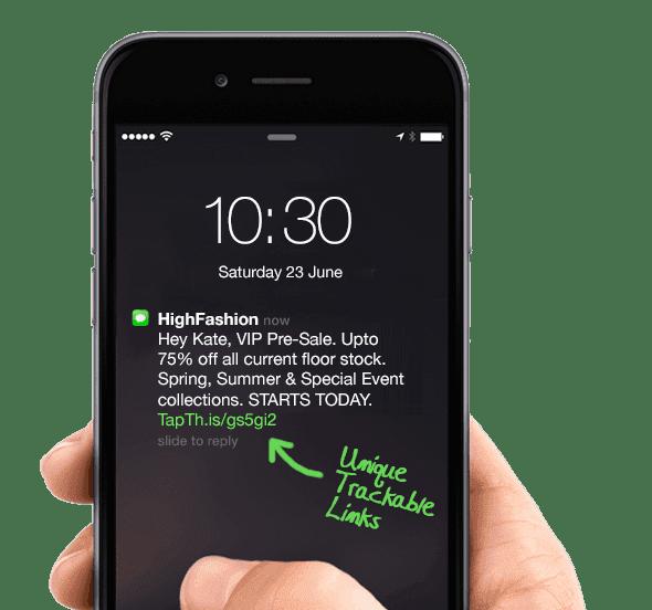 Burst sms example