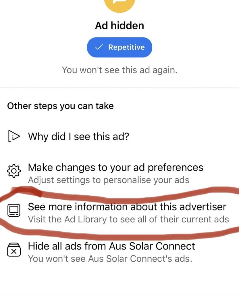 How to see your competitors Facebook Ads3