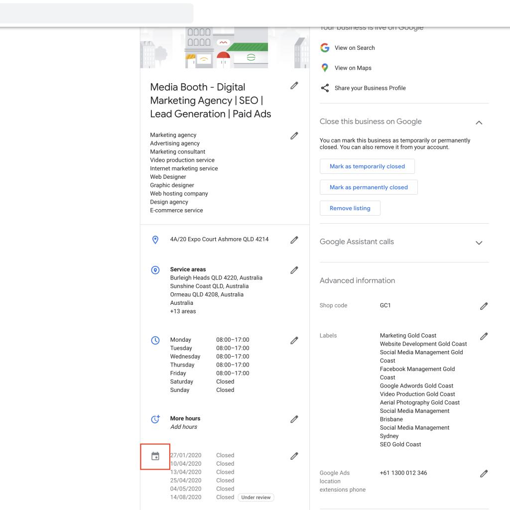 Step 3 - Google My Business Desktop